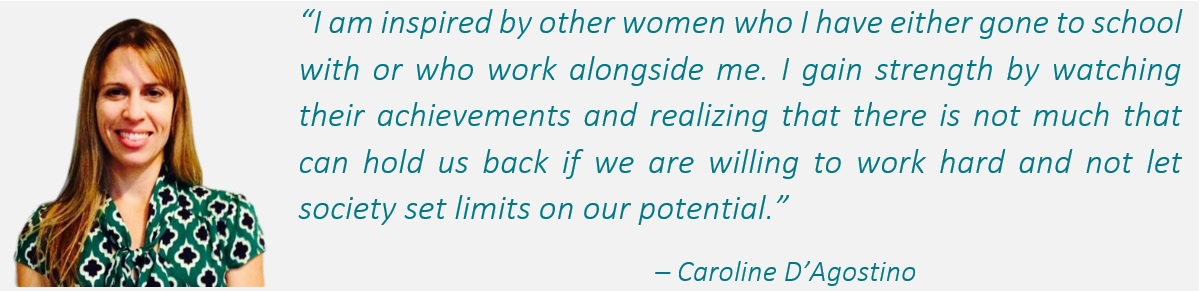 Caroline D'Agostino headshot and quote.